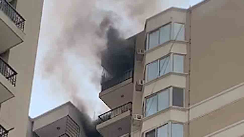 Fire breaks out in high-rise apartment in Ghaziabad, residents demand probe