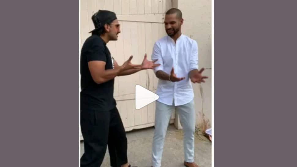 Ranveer Singh-Shikhar Dhawan dancing to Khali Bali hook step is mind-blowing! Watch