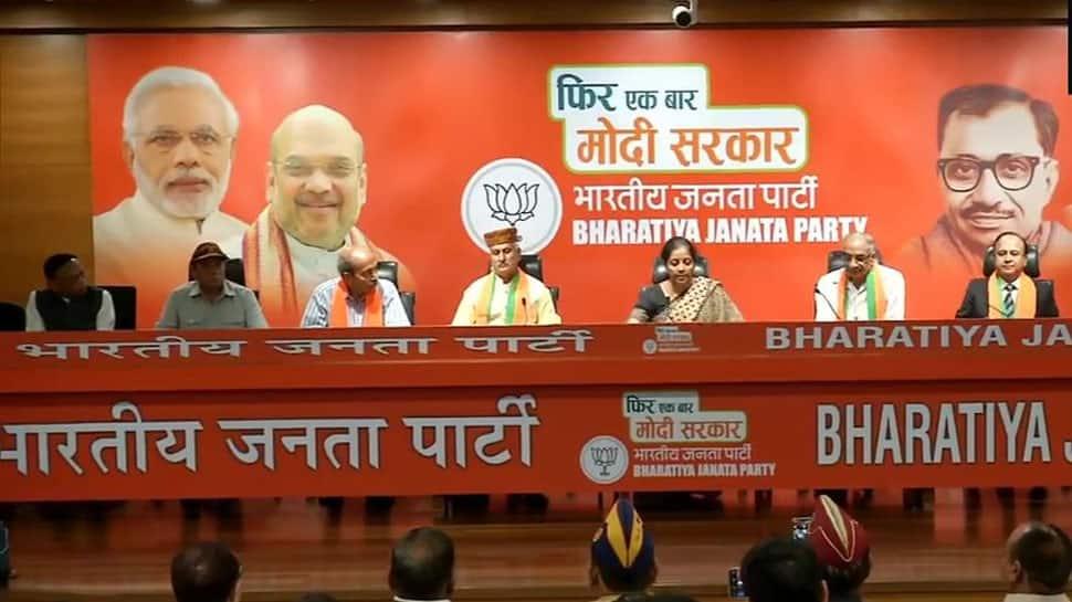 Delhi: 7 veteran officers join BJP in presence of Nirmala Sitharaman