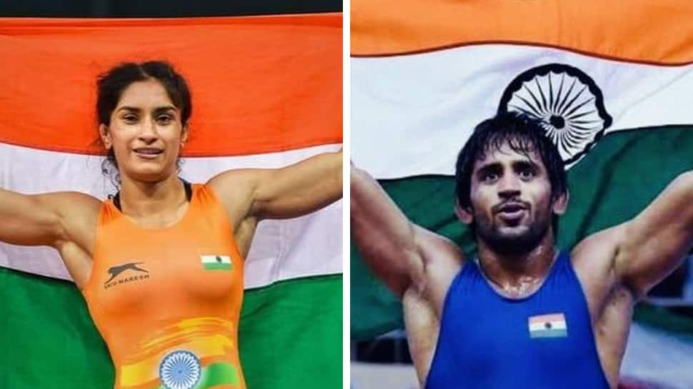 Wrestling Federation of India recommends Vinesh Phogat, Bajrang Punia for Rajiv Gandhi Khel Ratna Award
