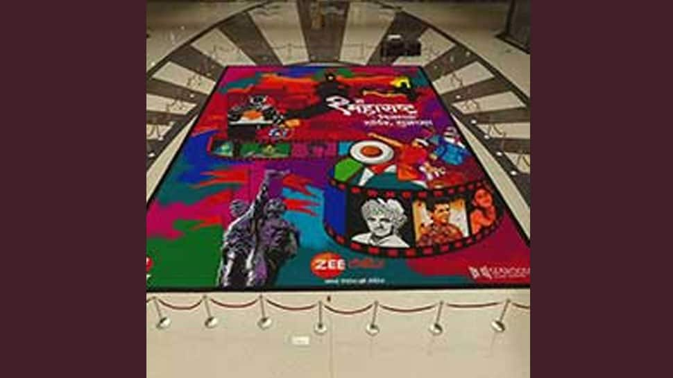 Zee Talkies makes a larger than life Rangoli on occasion of Maharashtra Day