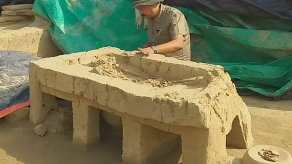 ASI unearths decorated 'legged' coffins with skeletons during excavation in Uttar Pradesh