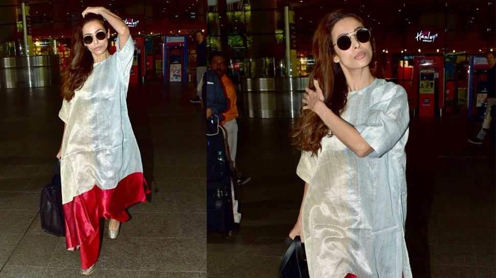 Malaika Arora steps out in ethnic avatar, wears dual-toned kurta in silver and red—See pics