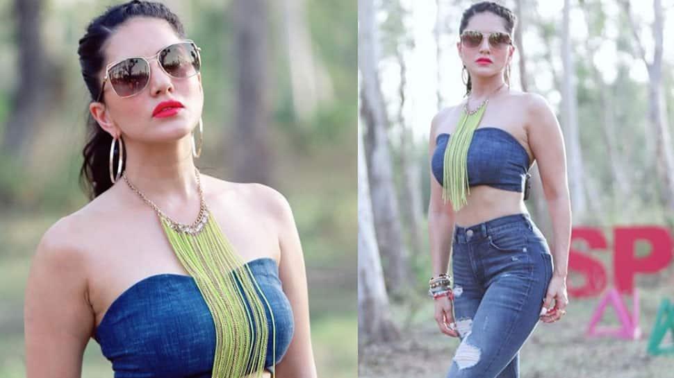 Sunny Leone raises temperature in a floral bikini, shares pic on social media