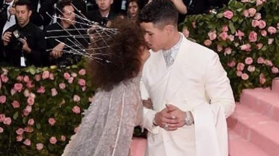 Priyanka, Nick Jonas go mushy at MET Gala