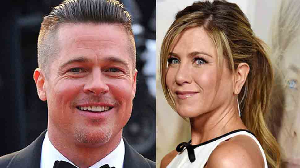 Brad Pitt laughs off claims he's dating Jennifer Aniston