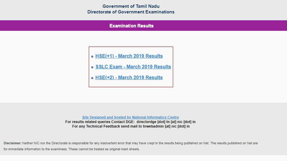 Tamil Nadu HSC Plus One results 2019 declared, Check results at tnresults.nic.in, dge.tn.nic.in