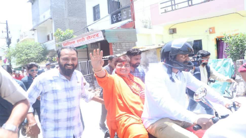 Lok Sabha election 2019: Sadhvi Pragya takes out bike rally, appeals to voters to choose BJP