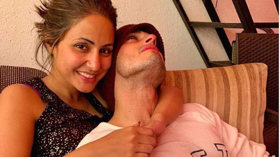 Hina Khan-Priyank Sharma's latest pic from romantic song 'Raanjhana' will give you Gerua feels—See inside