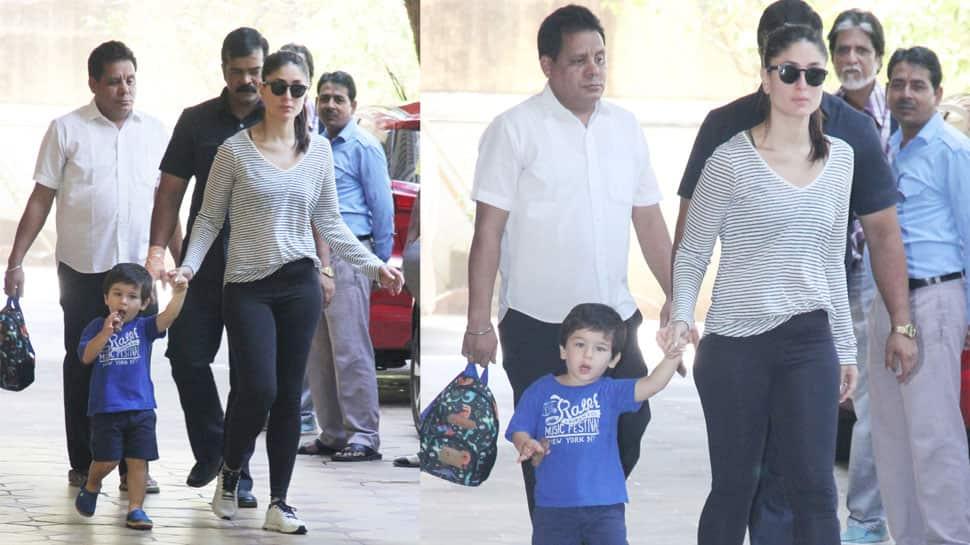 Taimur Ali Khan and mommy Kareena clicked at a play school - See pics