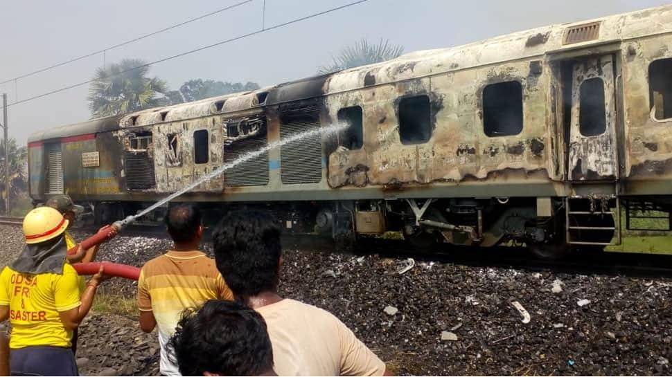 New Delhi-Bhubaneswar Rajdhani Express catches fire near Khantapada station in Odisha's Balasore