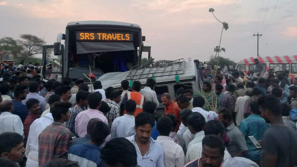 Andhra Pradesh: 10 killed, several injured as two vehicles collide in Kurnool district