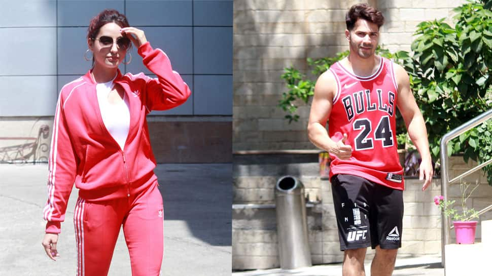 Nora Fatehi, Varun Dhawan rehearse for 'Street Dancer 3D', spotted outside dance studio—Pics