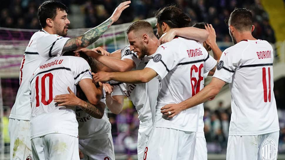 Serie-A: Rare Hakan Calhanoglu goal keeps AC Milan in Champions League hunt