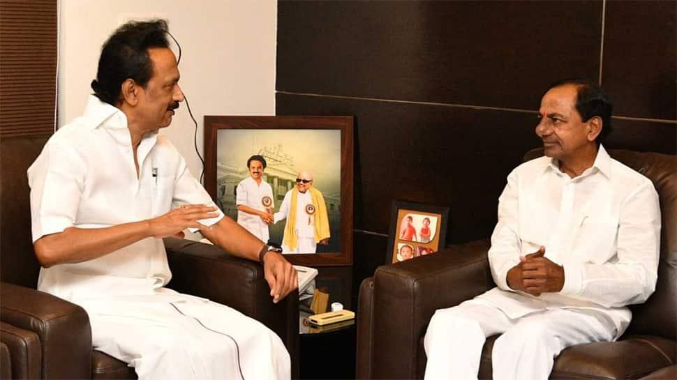 K Chandrashekar Rao meets MK Stalin, eyes kingmaker's role after Lok Sabha election