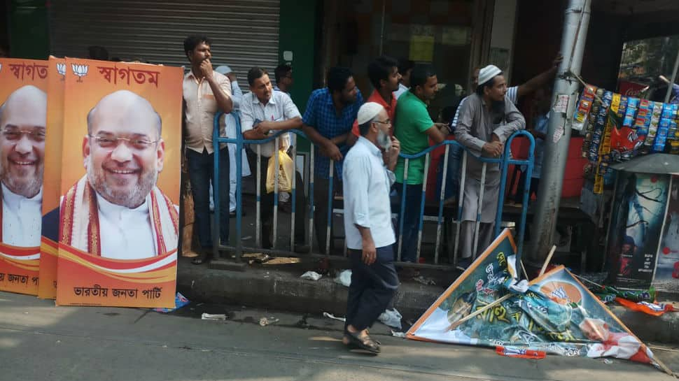BJP posters removed in Kolkata ahead of Amit Shah's roadshow
