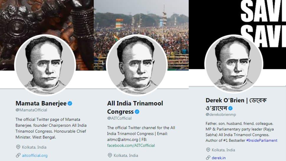 Mamata Banerjee, Derek O'Brien change Twitter, Facebook display photos to Vidyasagar's image