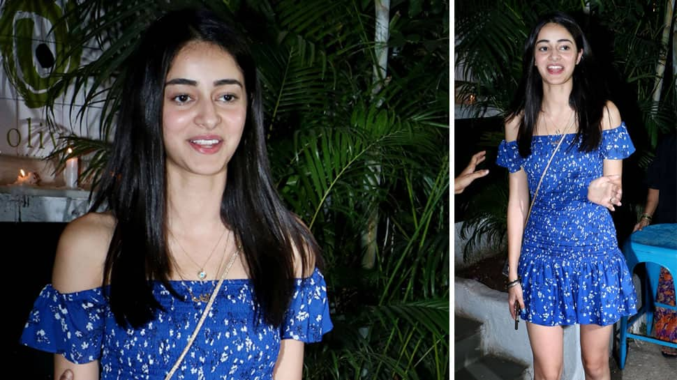 Ananya Panday's electric blue off-shoulder dress is totally a summer must-have! See pics
