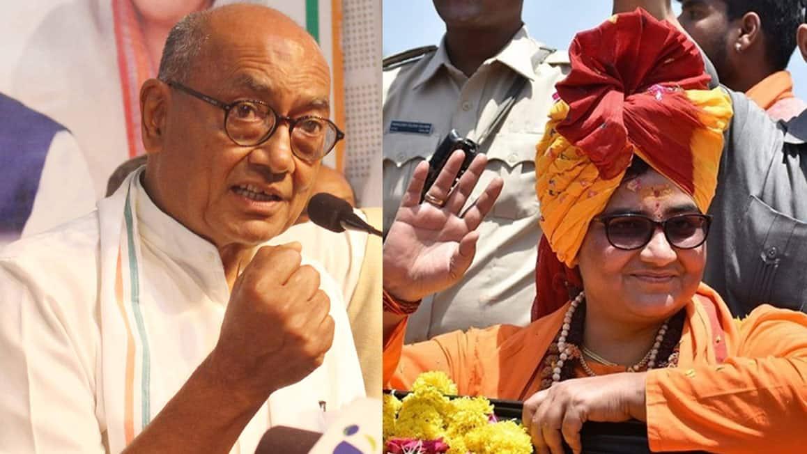 EC's fresh notice to Digvijaya Singh, Sadhvi Pragya over poll expenditure