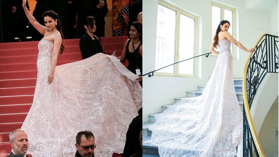 Kangana Ranaut flaunts princess-like look at Cannes red carpet