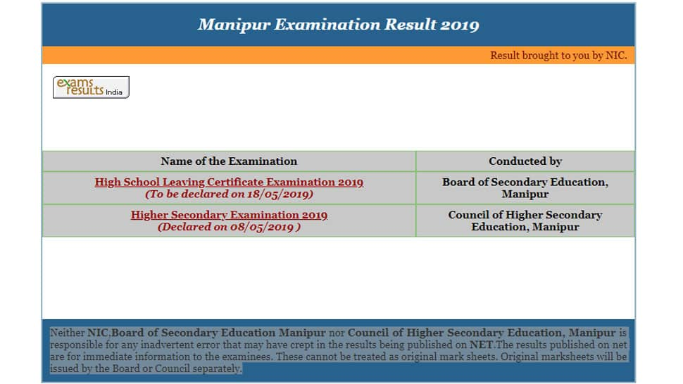 Manipur HSLC Result 2019: Board to announce Class 10 result at this time on manresults.nic.in
