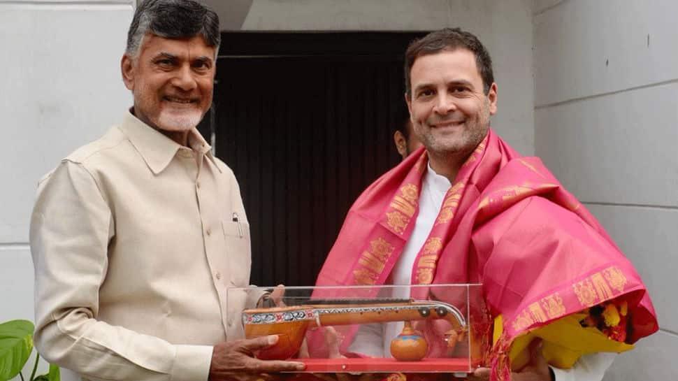 Chandrababu Naidu meets Rahul Gandhi, discusses firming up anti-BJP front