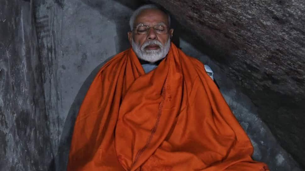 PM Modi meditates in holy cave during Kedarnath visit
