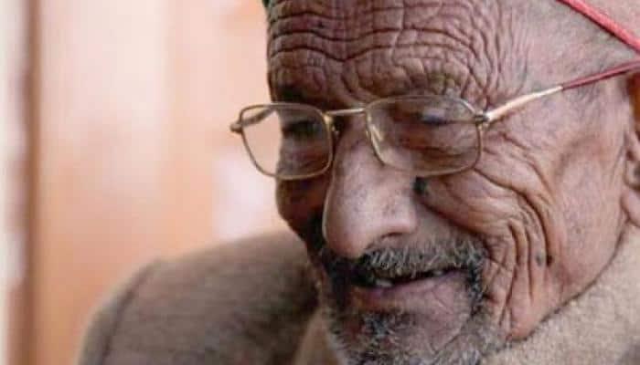 India's first voter Shyam Saran Negi casts his vote in Himachal Pradesh's Kinnaur
