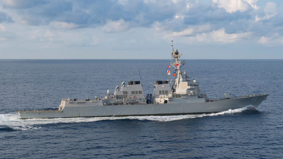US warship sails in disputed South China Sea...