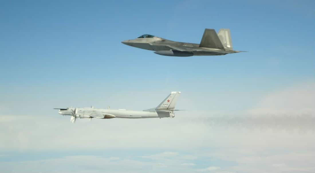 USA fighter jets again intercept Russian bombers off Alaska