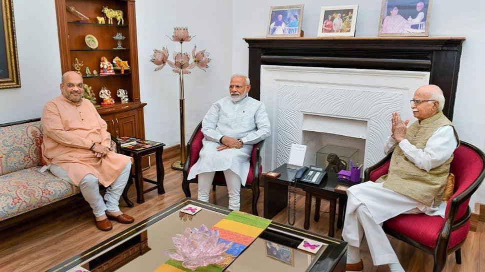Narendra Modi, Amit Shah meet LK Advani, Murli Manohar Joshi after landslide win in Lok Sabha polls 2019