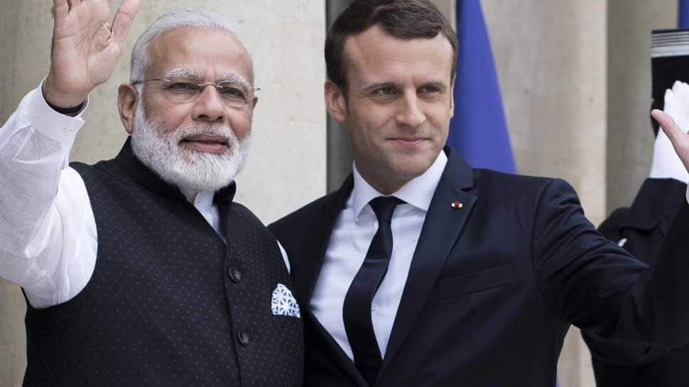 French President Emmanuel Macron congratulates PM Modi, pledges to work with India on security issues