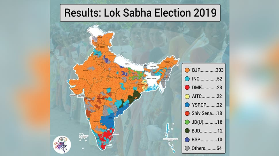 In Maps: How Political Parties Fared In Lok Sabha Election