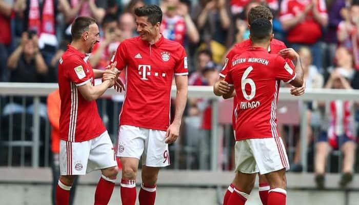 Robert Lewandowski's brace helps Bayern Munich seal German double