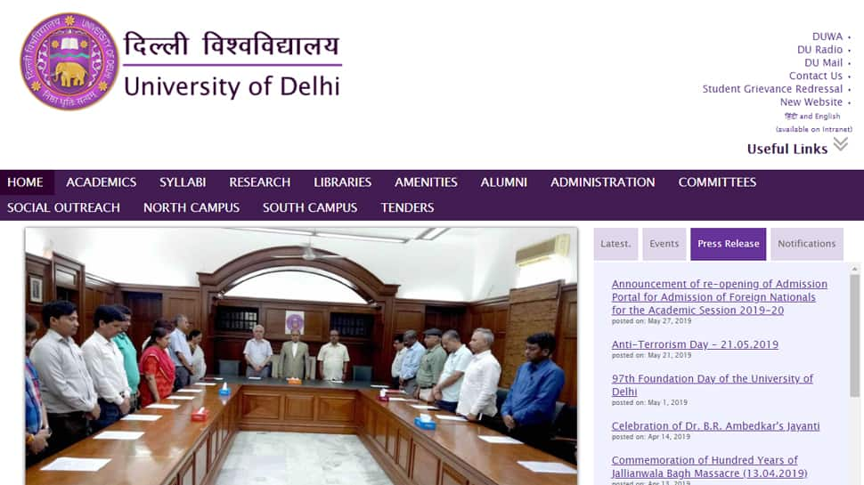 Delhi University likely to begin admission process from May 30