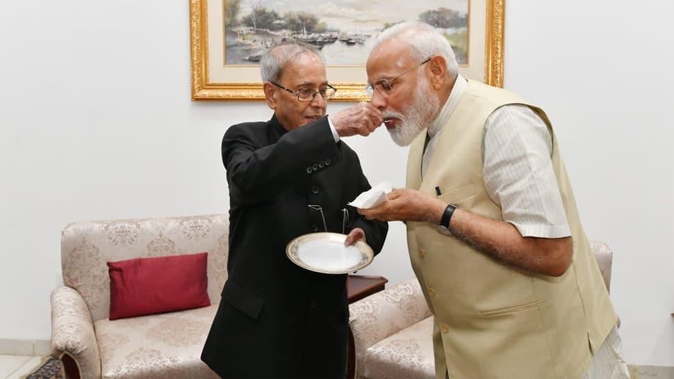 Narendra Modi calls on Pranab Mukherjee, seeks his blessings for second term as PM
