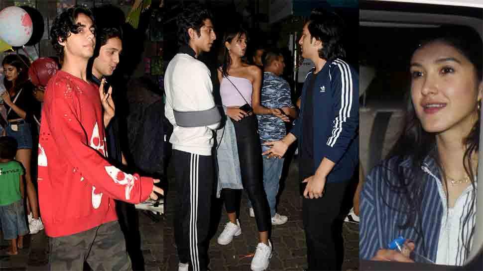 Aryan Khan parties with Ananya Panday, Shanaya Kapoor, Alaia F at Bandra hotspot — Pics