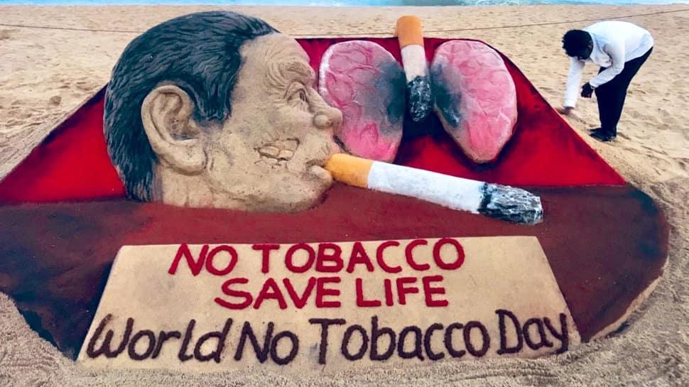 Sudarsan Pattnaik's sand art on World No Tobacco Day is hard-hitting- Watch