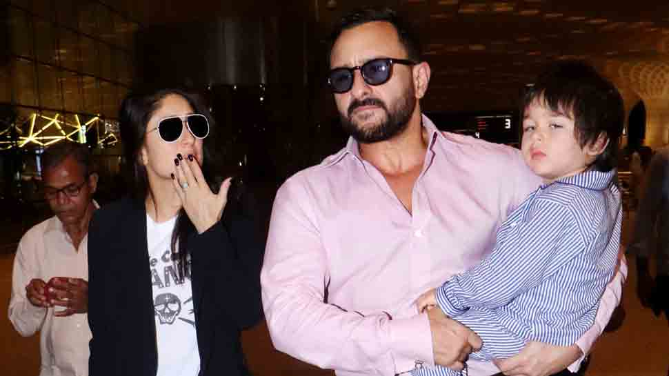 Kareena Kapoor Khan, Saif fly off to London with little munchkin Taimur — Take a look at their pics