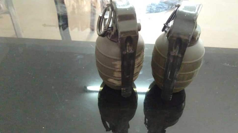 Two hand grenades seized from bike-borne men in Punjab