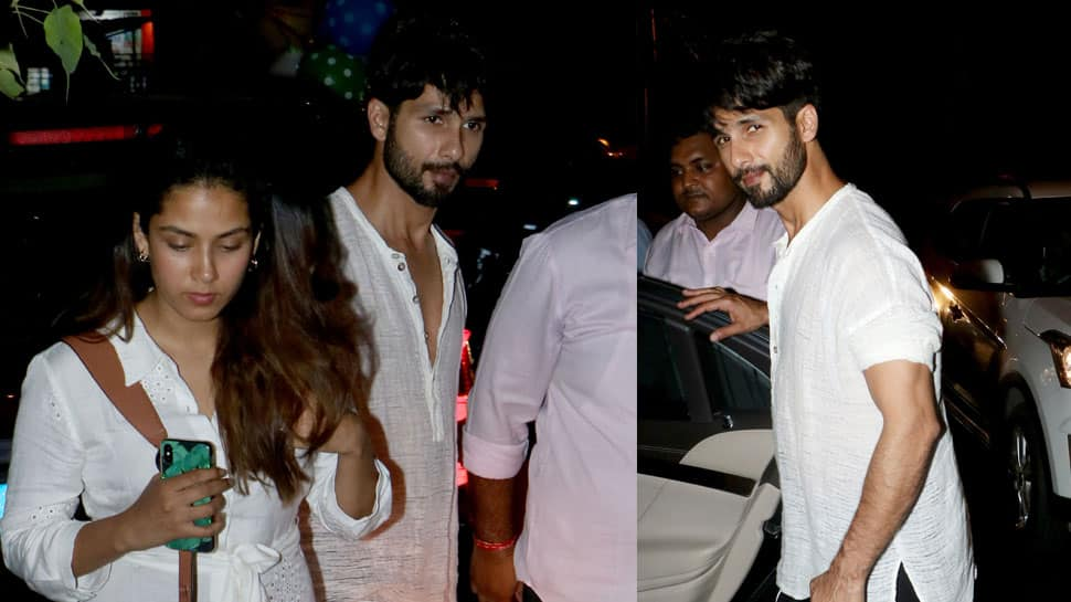 Shahid Kapoor-Mira Rajput go twinning in white on a dinner date—See pics
