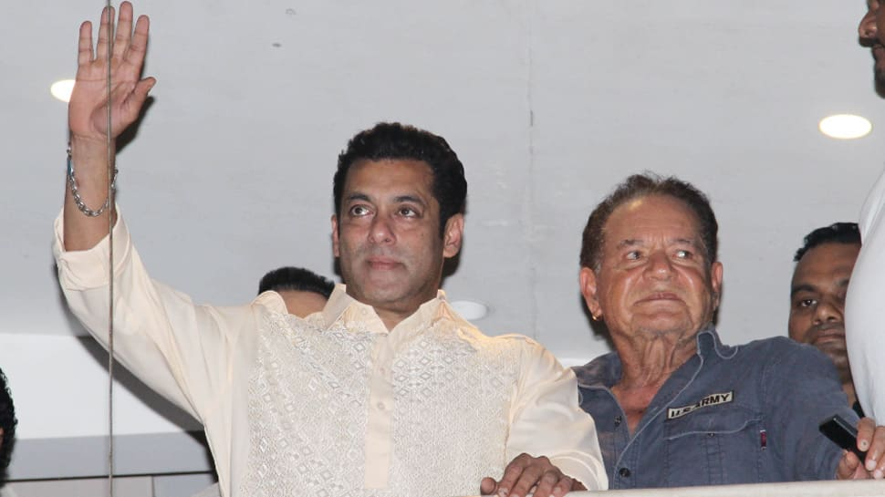 Salman Khan waves to cheering fans, wishes them Eid Mubarak — Pics
