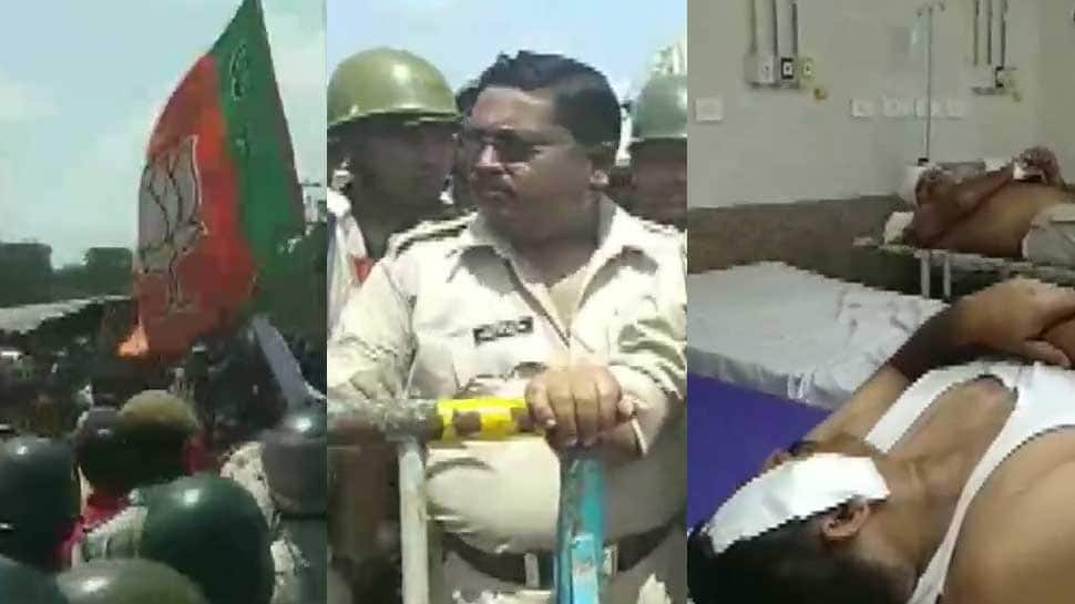 Clashes in Bengal's North Dinajpur after police stops BJP rally, several injured