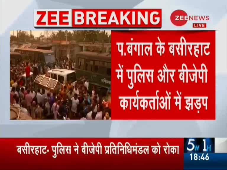 Police stops BJP procession with dead bodies of BJP workers heading to  Kolkata