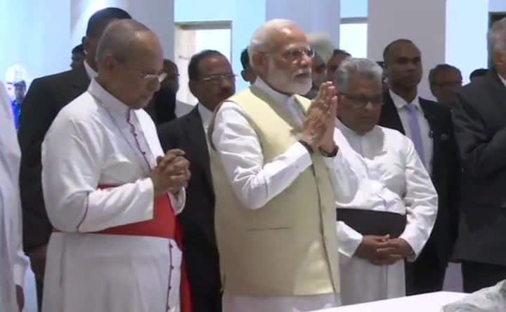 Prime Minister Narendra Modi visits church targeted during Easter terror attacks in Sri Lanka