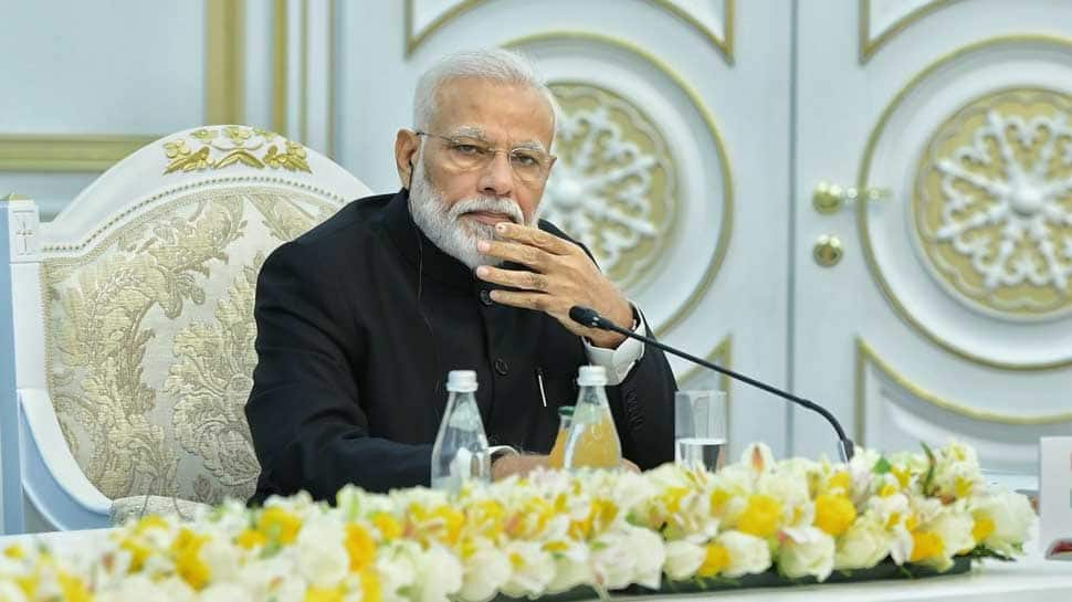 PM Narendra Modi calls for strong action against terror at SCO Summit as Imran Khan looks on