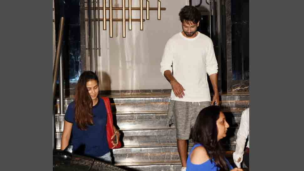 Mira Rajput steps out in denim shorts for dinner date with Shahid Kapoor — Pics