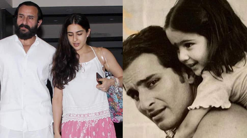 Sara Ali Khan shares the cutest throwback pics with daddy Saif Ali Khan on Father's Day