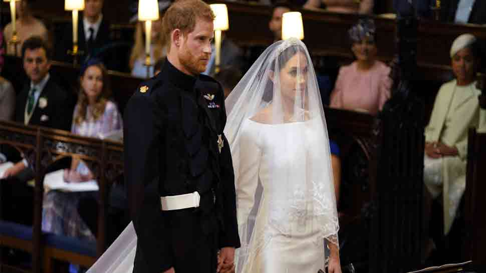 Meghan Markle's wedding dress on display in Scottish castle