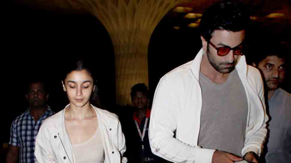Ranbir Kapoor, Alia Bhatt  colour-coordinate as they arrive together at airport — Pics